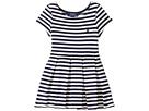 Polo Ralph Lauren Kids - Striped Pleated Ponte Dress (Toddler)