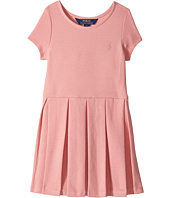 Polo Ralph Lauren Kids - Pleated Ribbed Ponte Dress (Little Kids)
