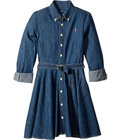 Polo Ralph Lauren Kids - Denim Fit-and-Flare Shirtdress (Big Kids)