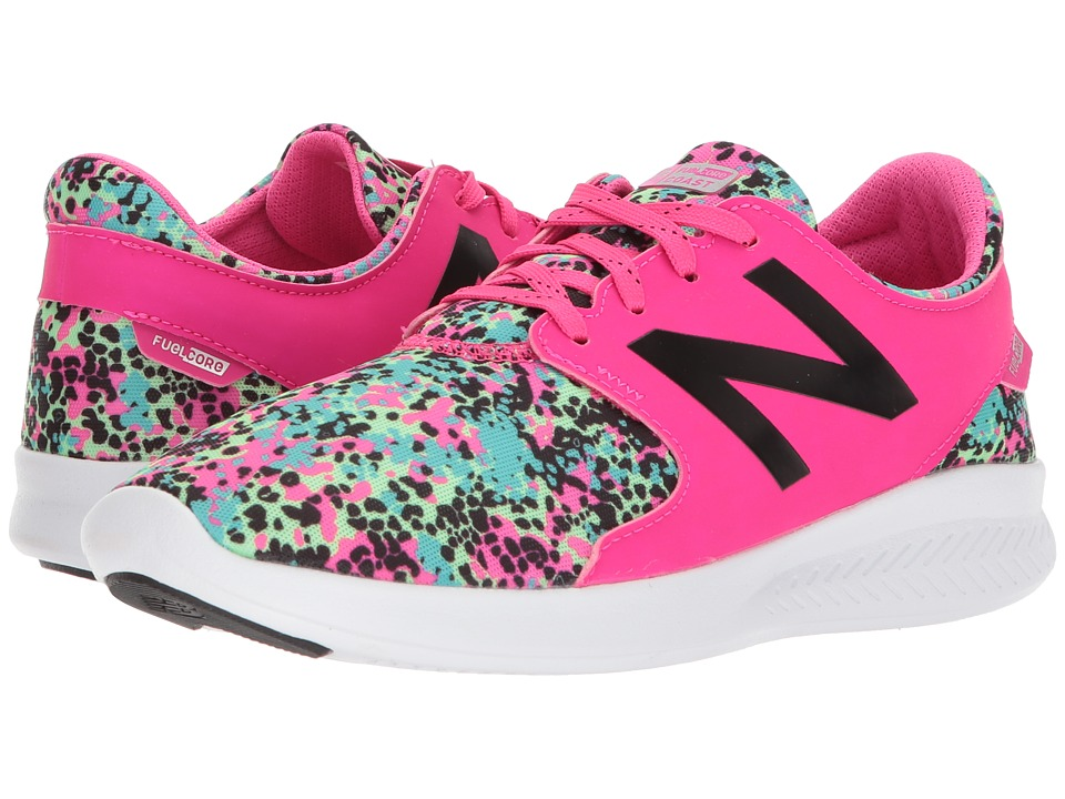 New Balance Kids KJCSTv3Y (Little Kid/Big Kid) (Pink Glo/Green) Girls Shoes