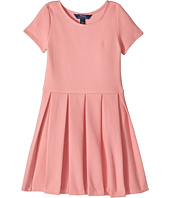 Polo Ralph Lauren Kids - Pleated Ribbed Ponte Dress (Little Kids/Big Kids)