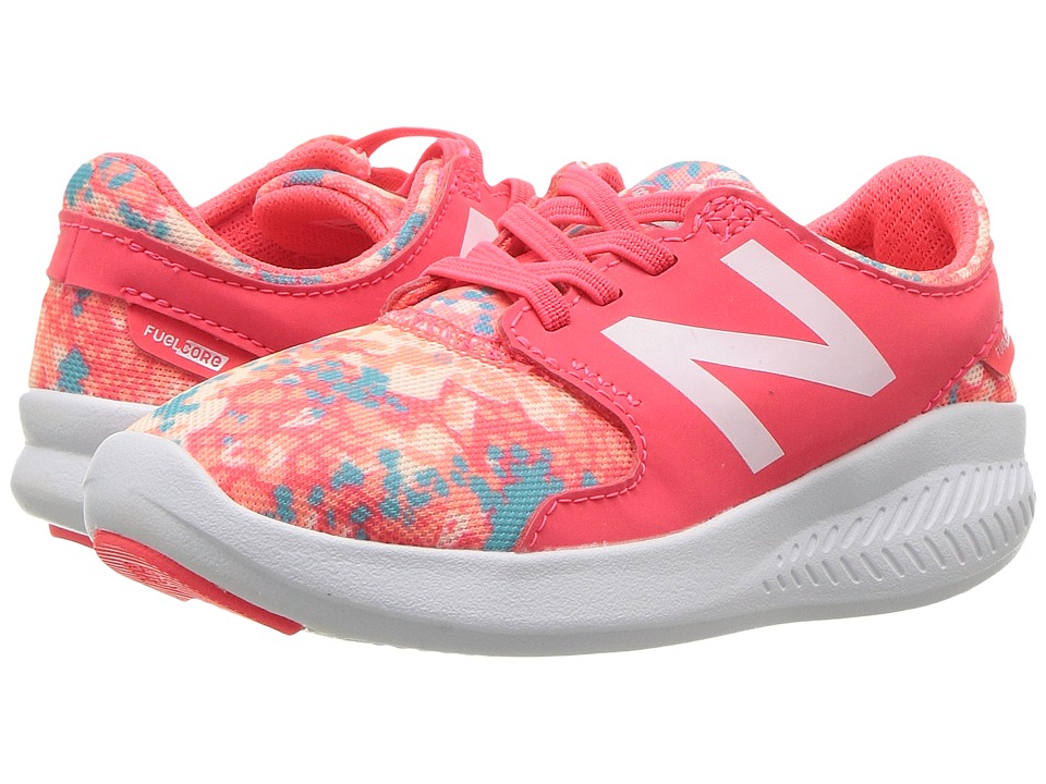 New Balance Kids KACSTv3I (Infant/Toddler) (Vivid Coral/Ozone Blue) Girls Shoes