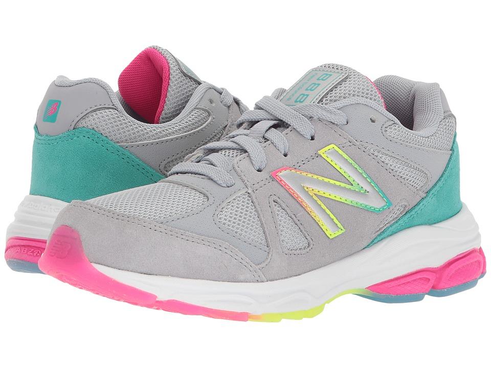 New Balance Kids KJ888v1G (Big Kid) (Silver Mink/Rainbow) Girls Shoes
