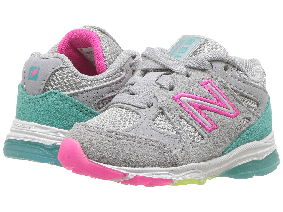 New Balance Kids KJ888v1I (Infant/Toddler) (Silver Mink/Rainbow) Girls Shoes