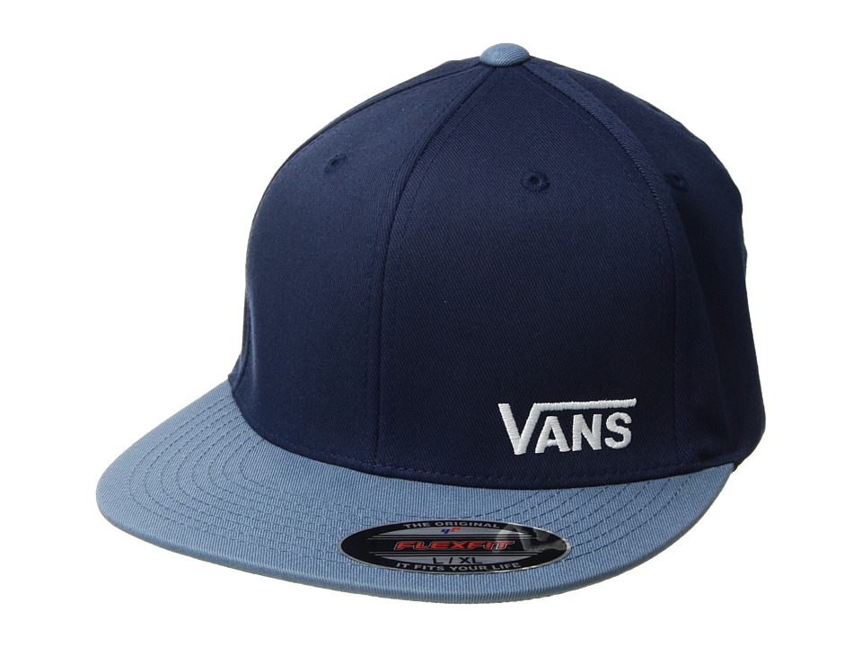 Vans - Splitz Flexfit Hat (Dress Blues/Copen Blue) Caps
