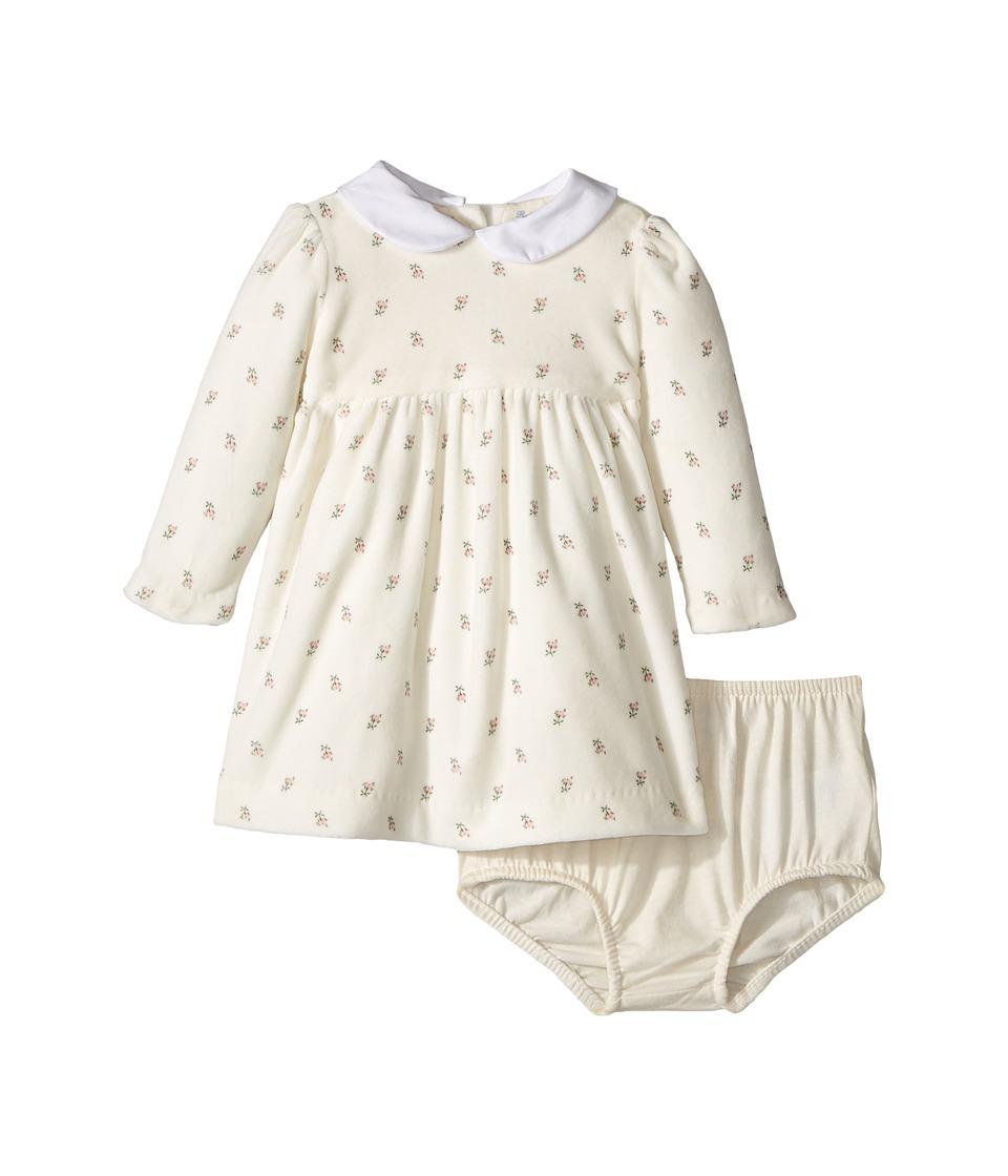 1940s Children's Clothing: Girls, Boys, Baby, Toddler Ralph Lauren Baby - Floral Velour Dress Bloomer Infant Rose Floral Girls Active Sets $30.99 AT vintagedancer.com