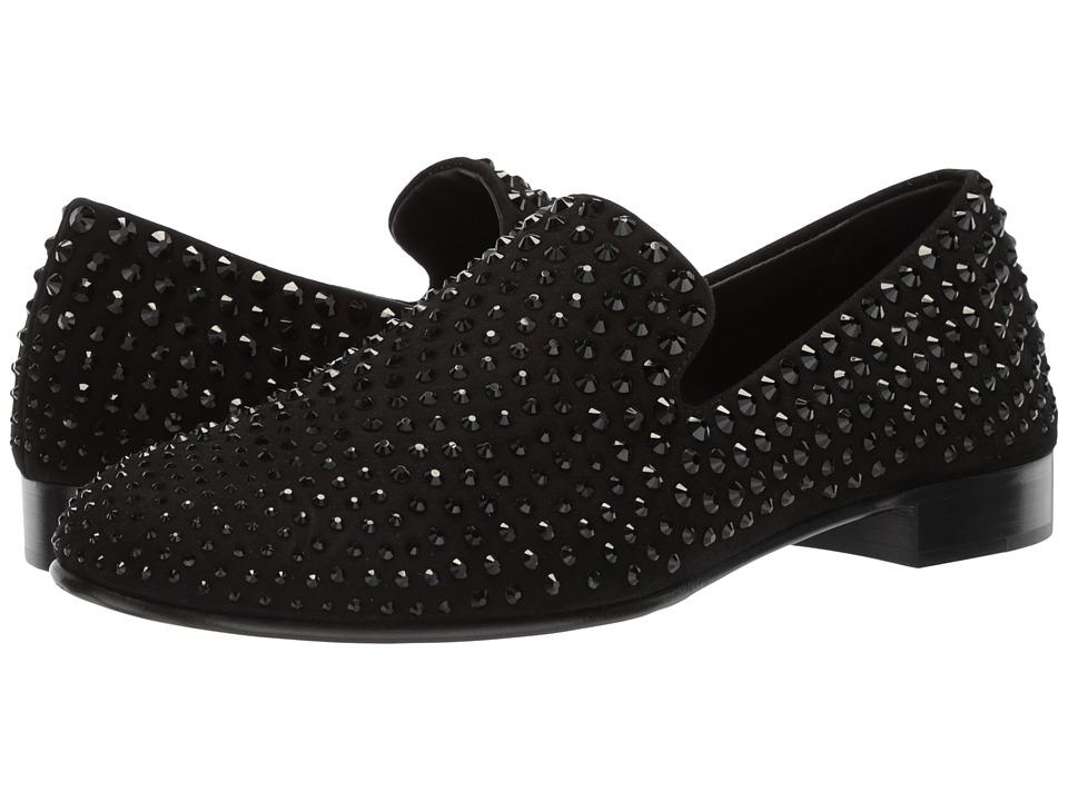 Giuseppe Zanotti - Kevin Studded Loafer (Black 1) Mens Slip on  Shoes