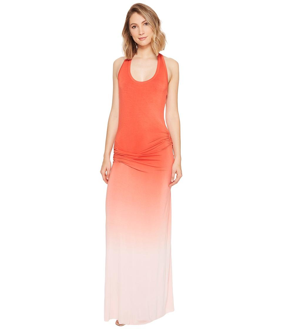 Young Fabulous & Broke Hamptons Maxi Dress (Hot Orange/Ombre) Women