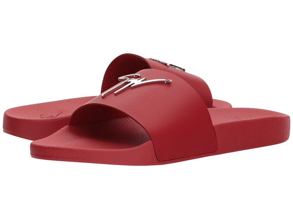 Giuseppe Zanotti - Burel Slide Sandal (Red) Men's Sandals