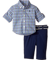 Ralph Lauren Baby - Plaid Shirt, Belt & Pants Set (Infant)