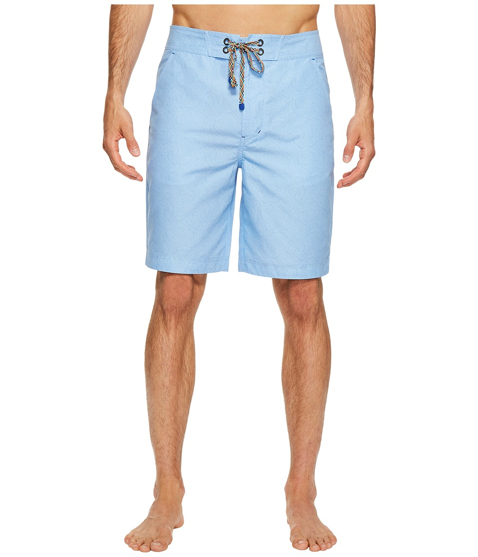 Robert Graham Muscle Beach Shorts (Light Blue) Men