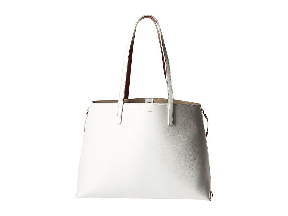 Salvatore Ferragamo - Jet Set Tote 21G870 (New Bianco Ottico) Tote Handbags