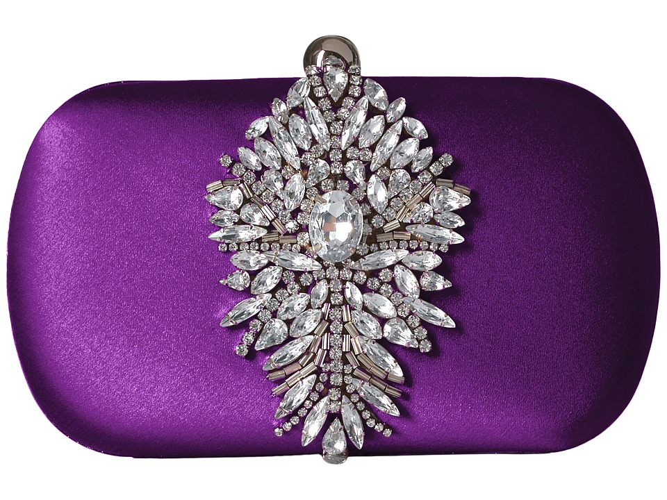 Badgley Mischka Aurora (Purple) Clutch Handbags