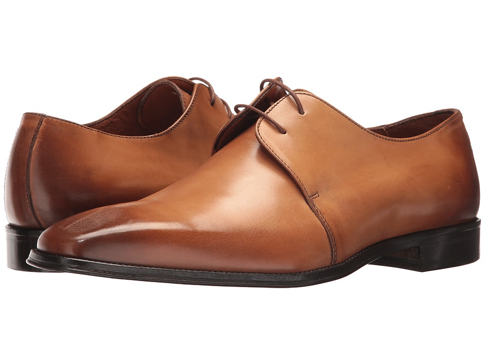 Massimo Matteo - 2-Eye Blucher (Whisky) Mens Lace up casual Shoes