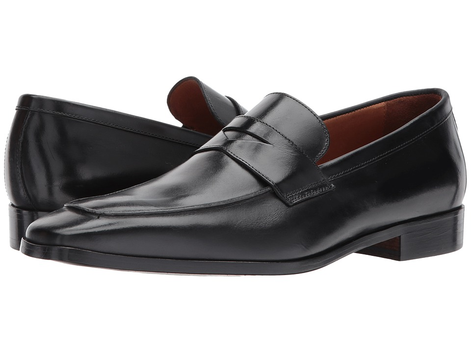 Massimo Matteo - Mocc Toe Penny (Black 2) Mens Slip on  Shoes