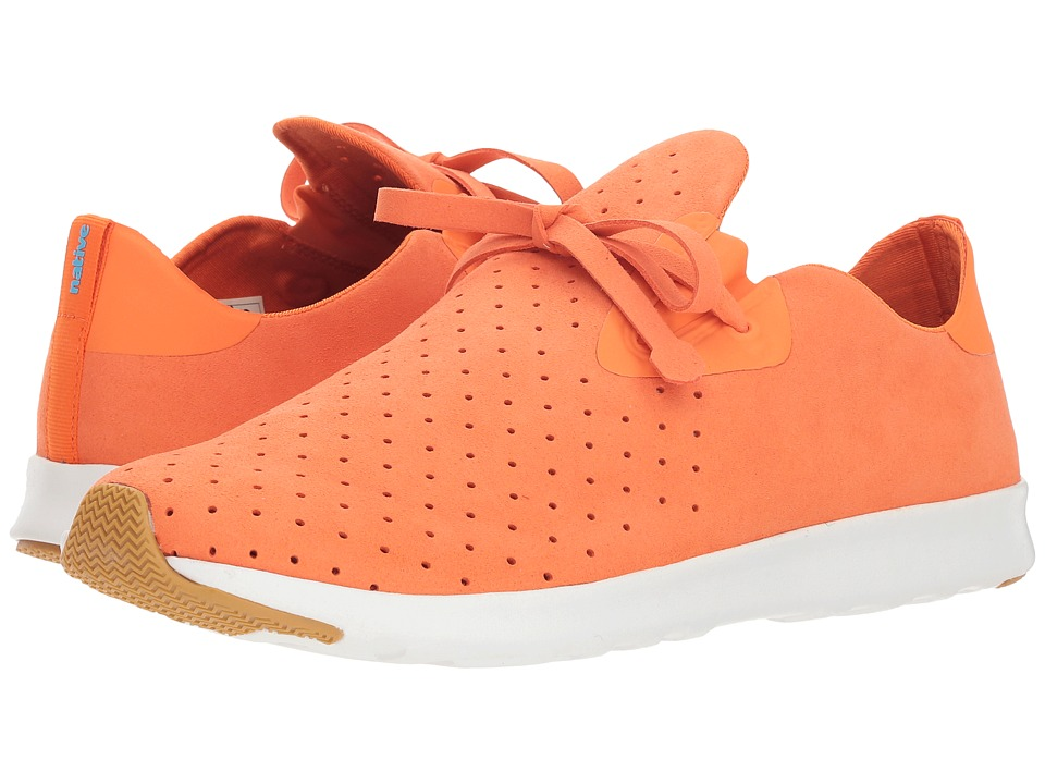 Native Shoes - Apollo Moc (Sunset Orange/Shell White/Natural Rubber) Shoes