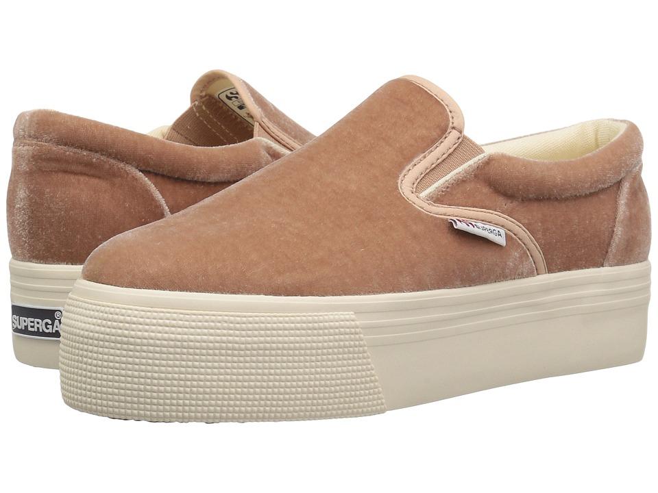 Superga - 2314 Velvetjpw (Blush Velvet) Womens  Shoes