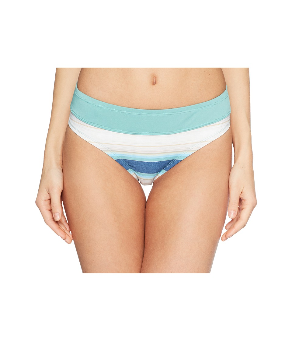 Carve Designs - Catalina Bottom (Playa Stripe/Julep) Womens Swimwear