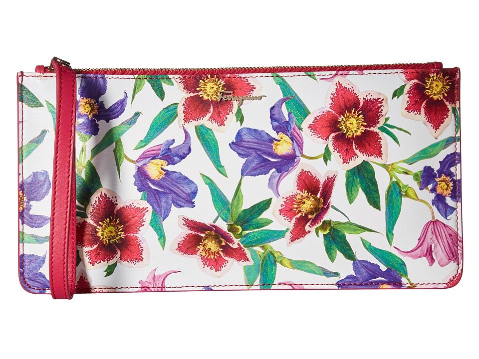 Salvatore Ferragamo - 22D227 (St.Bouquet White/Multicolor) Wallet Handbags