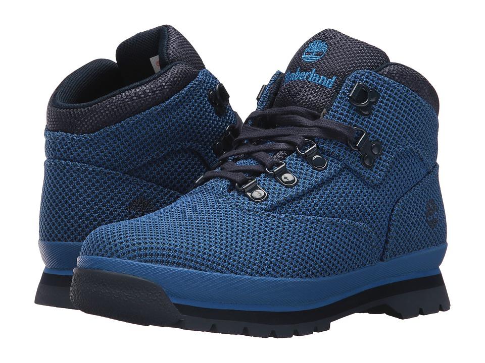 Timberland Kids - Fabric Euro Hiker (Big Kid) (Nebulas Blue) Kids Shoes