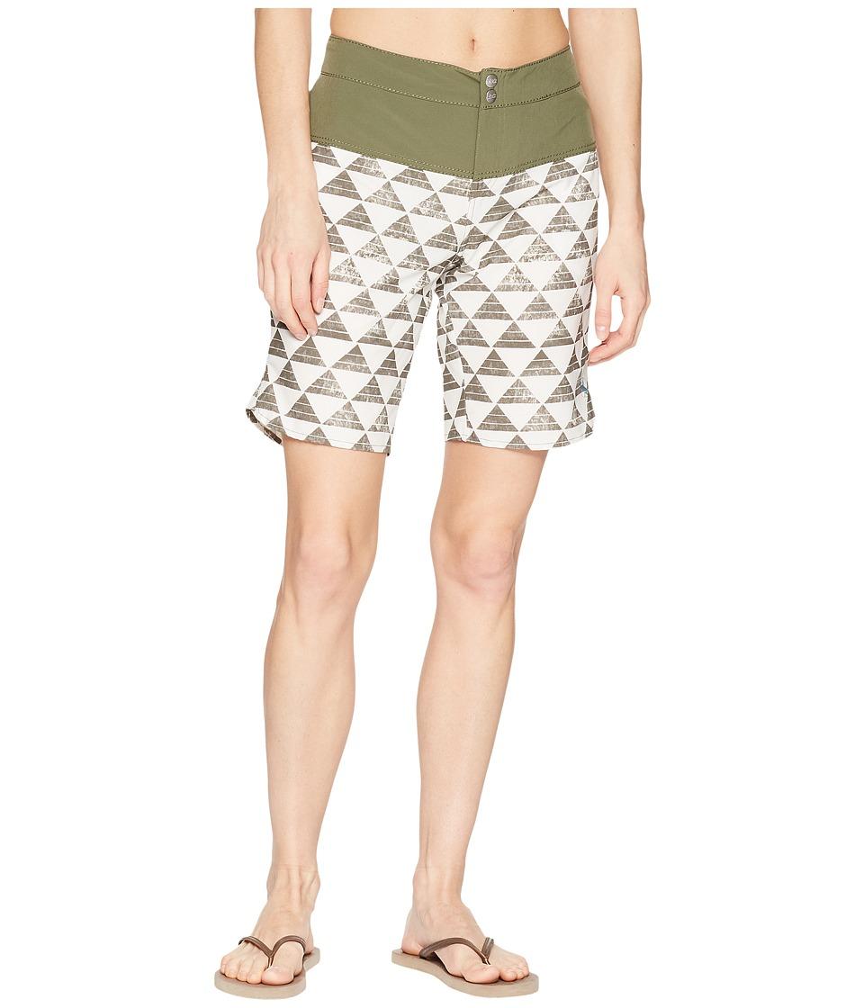 Carve Designs - Shaka Shorts (Olive Triangles/Olive) Womens Shorts