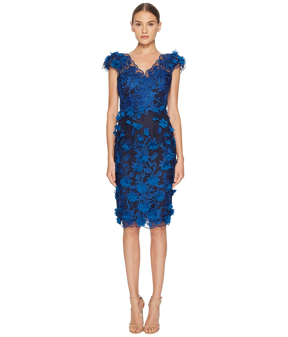 Zac Posen Cotton Poplin Cold Shoulder Dress (Black) Women