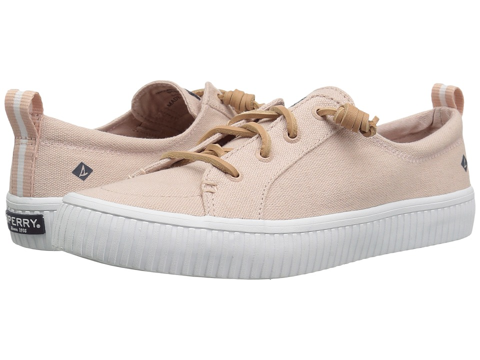 Sperry Crest Vibe Creeper Linen (Rose) Women's Shoes