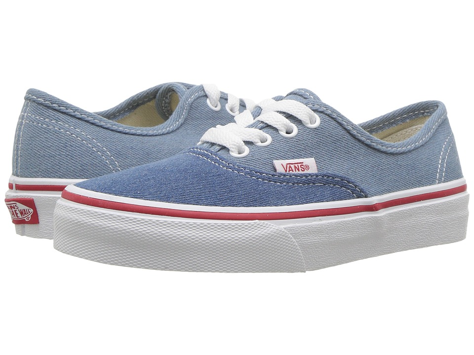 Vans Kids - Authentic (Little Kid/Big Kid) ((Denim Two-Tone) Blue/True White) Boys Shoes