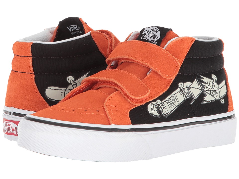 Vans Kids SK8-Mid Reissue V (Little Kid/Big Kid) ((Vans Focus) Flame/Black) Boys Shoes