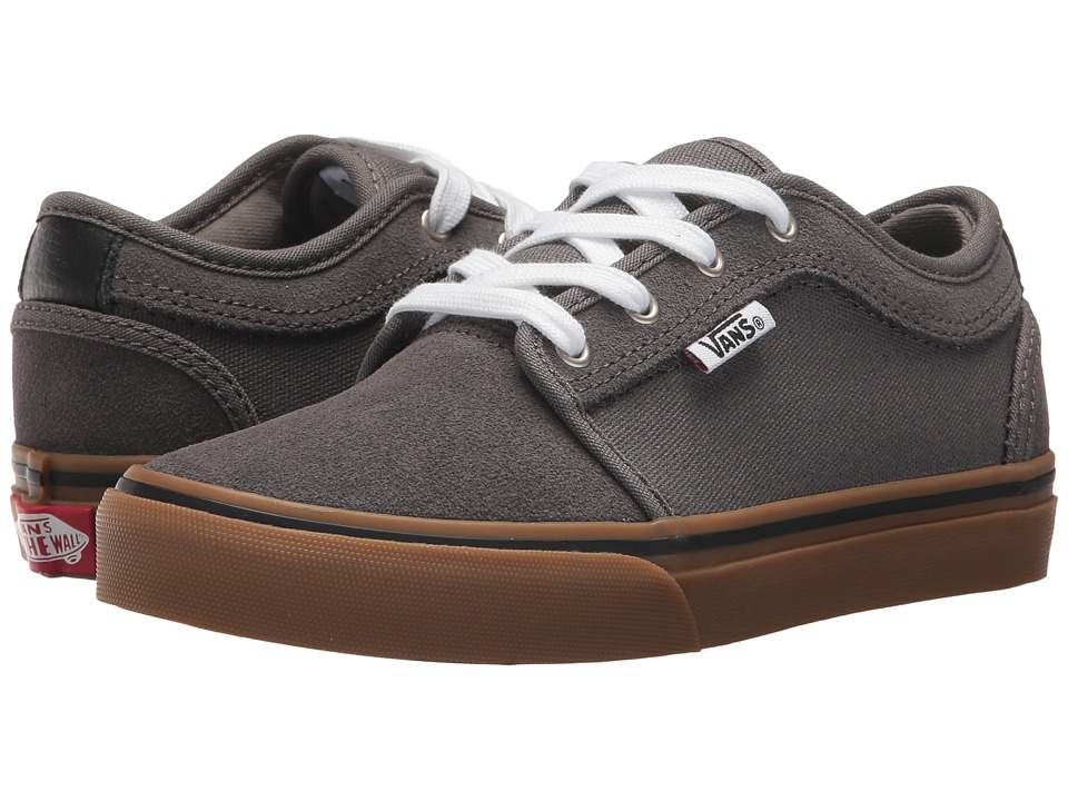 Vans Kids Chukka Low (Little Kid/Big Kid) (Pewter/White/Gum) Boys Shoes