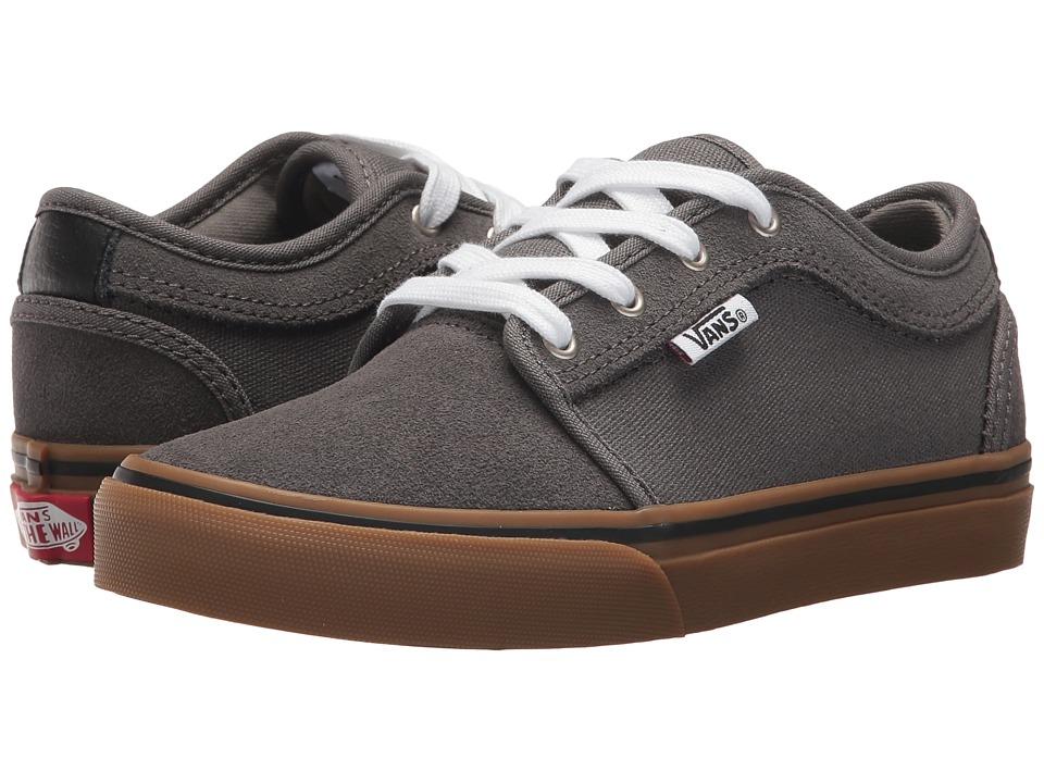 Vans Kids Chukka Low (Little Kid/Big Kid) (Pewter/White/Gum) Boys Shoes