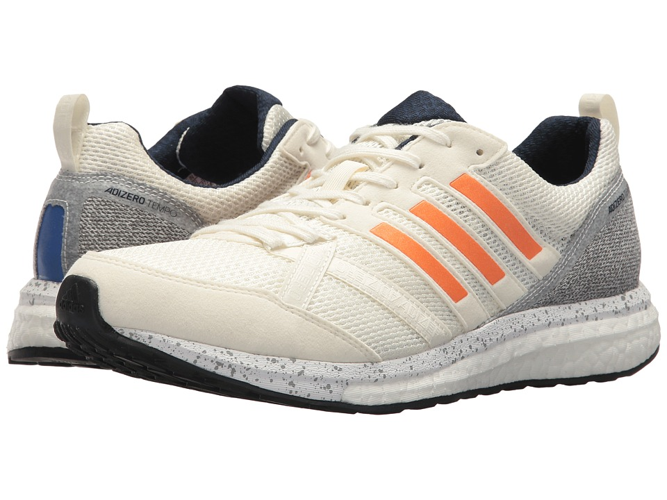 Adidas Running - adiZero Tempo 9 (Off-White/Hi-Res Orange...