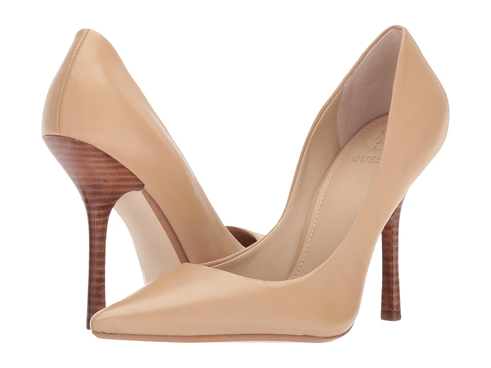 GUESS Carrie (Natural Leather) High Heels