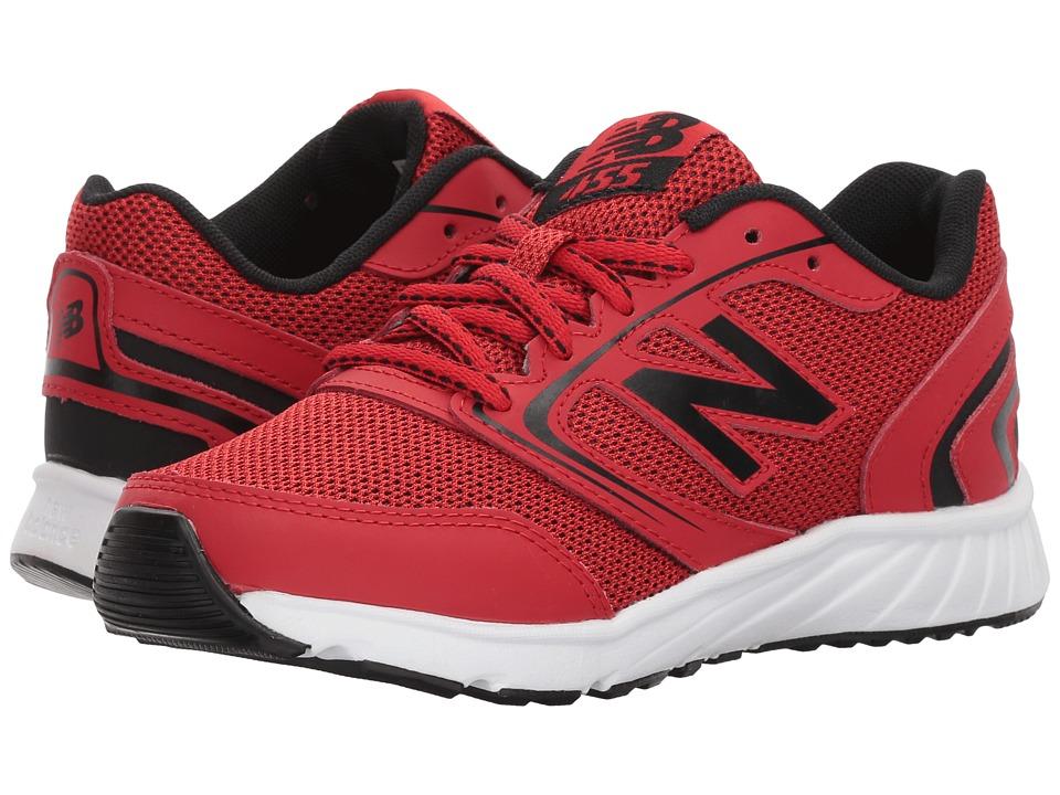 New Balance Kids - KR455v1Y (Little Kid/Big Kid) (Team Red/Black) Boys Shoes