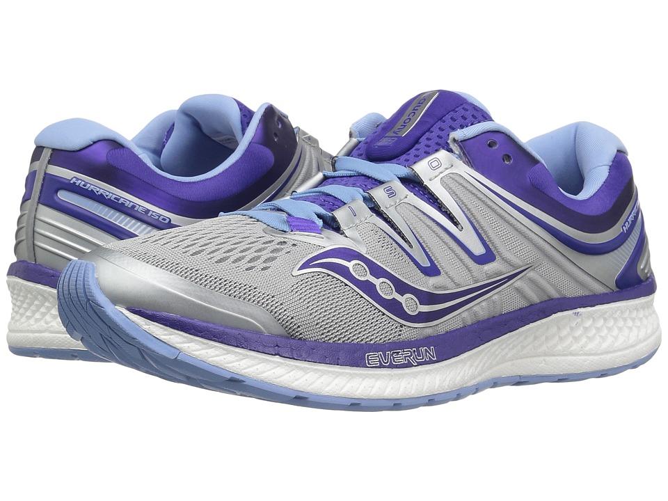 Saucony Hurricane ISO 4 (Grey/Blue/Purple) Women's Running Shoes