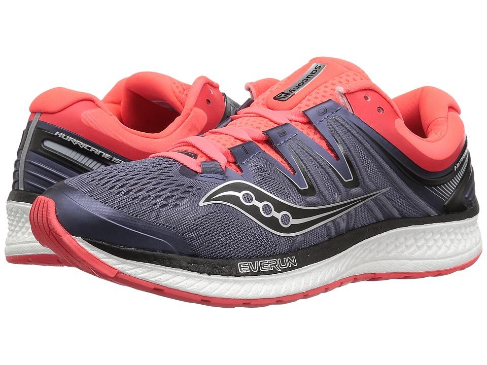 Saucony Hurricane ISO 4 (Grey/Black/Vizi Red) Women's Running Shoes