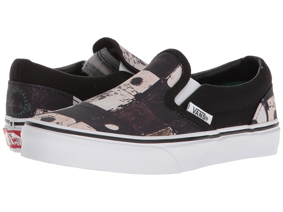 Vans Kids Classic Slip-On x A Tribe Called Quest (Little Kid/Big Kid) ((ATCQ) Black) Kids Shoes