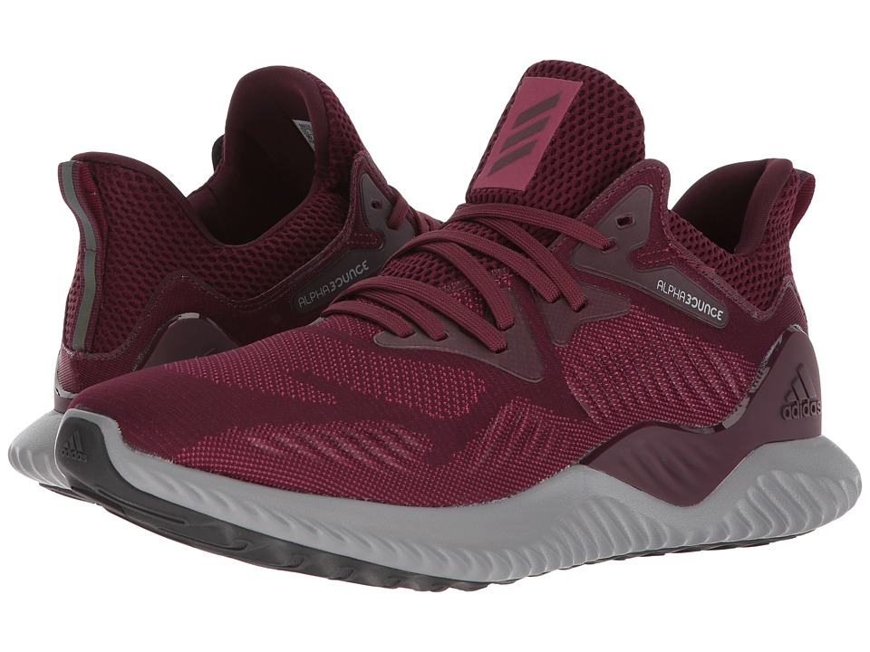 adidas Running - Alphabounce Beyond (Maroon/Maroon/Mystery Ruby) Mens Running Shoes