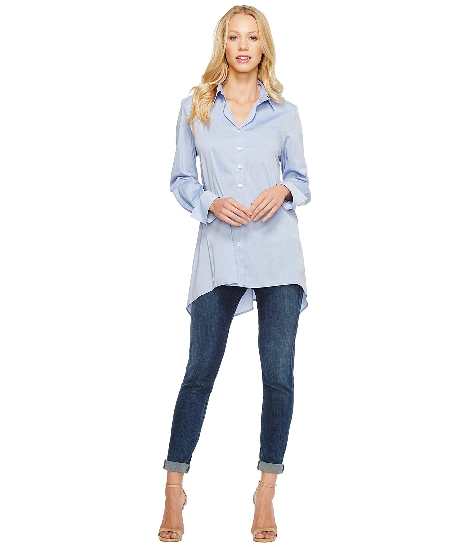 Krazy Larry - Button Down Tunic (Chambray) Womens Blouse