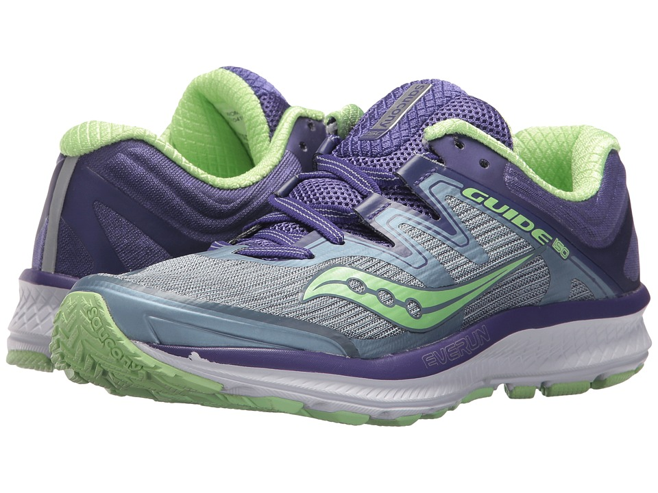Saucony Guide ISO (Fog/Purple/Mint) Women's Running Shoes