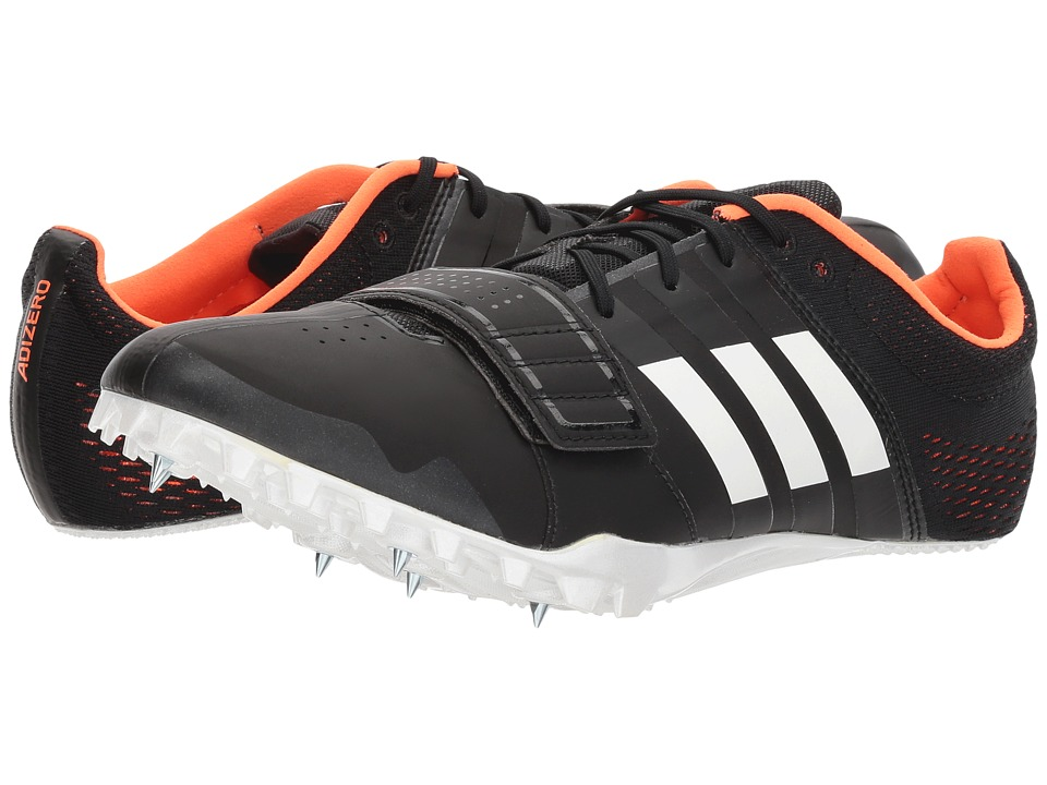 Image of adidas Running - adiZero Accelerator (Core Black/Footwear White/Orange) Men's Track Shoes