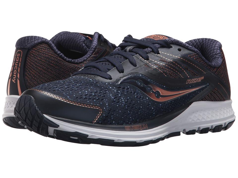 Saucony Ride 10 (Navy/Denim/Copper) Women's Running Shoes