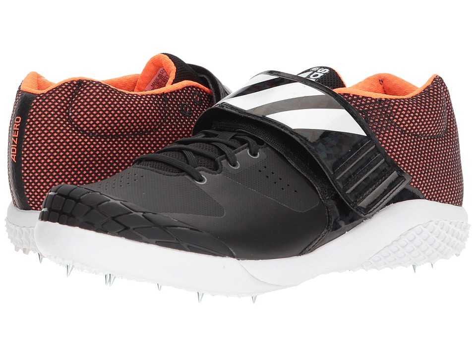 Image of adidas Running - adiZero Javelin (Core Black/Footwear White/Orange) Running Shoes