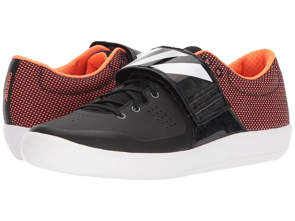 adidas Running - adiZero Shotput (Core Black/Footwear White/Orange) Running Shoes