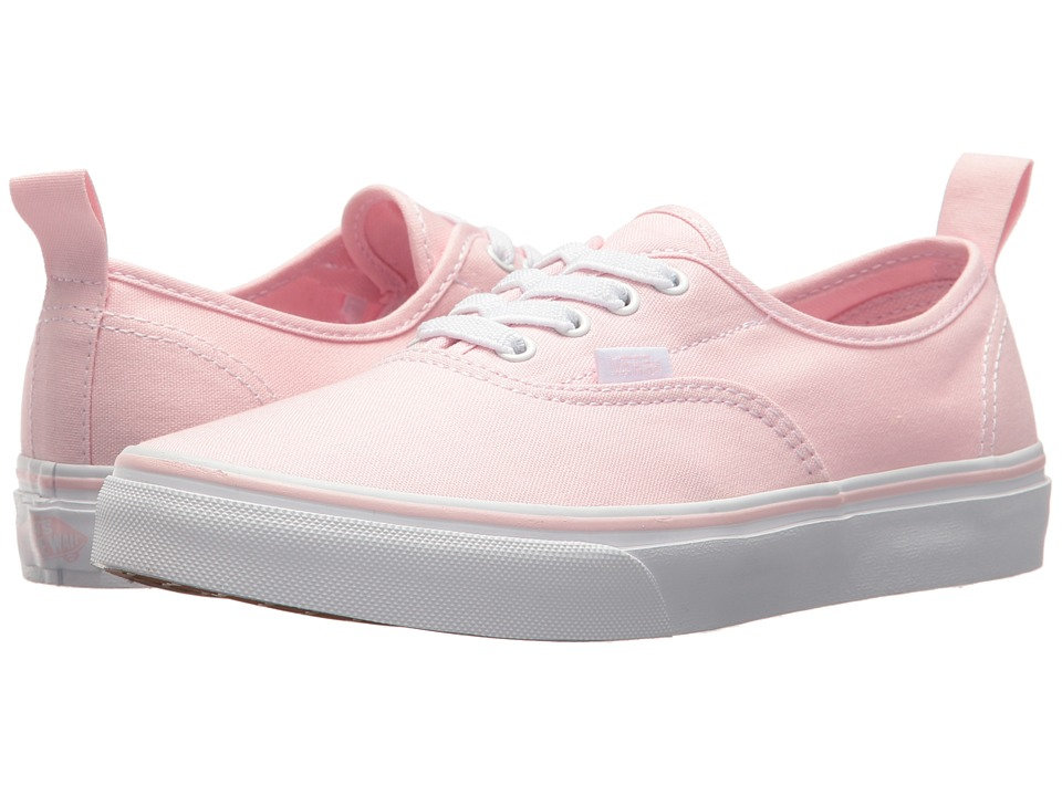 Vans Kids Authentic Elastic Lace (Little Kid/Big Kid) (Chalk Pink/True White) Girls Shoes