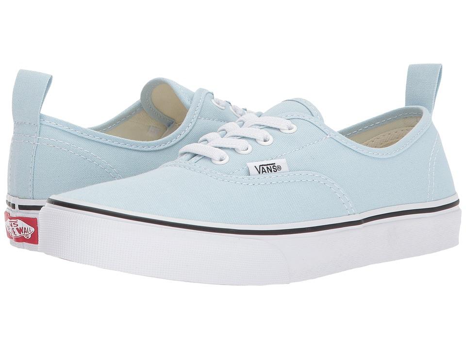 Vans Kids Authentic Elastic Lace (Little Kid/Big Kid) (Baby Blue/True White) Girls Shoes