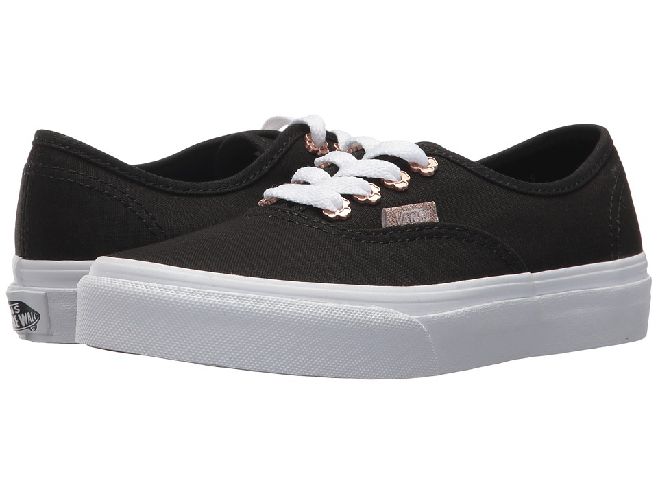 Vans Kids - Authentic (Little Kid/Big Kid) ((Flower Eyelet) Black) Girls Shoes