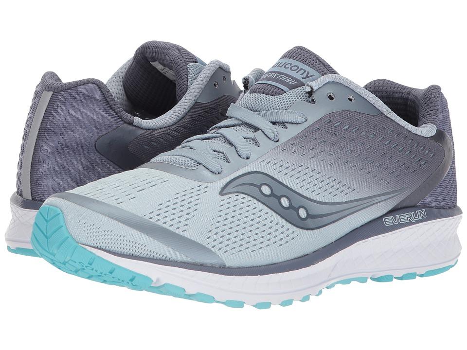 Saucony Breakthru 4 (Fog/Grey/Blue) Women's Running Shoes