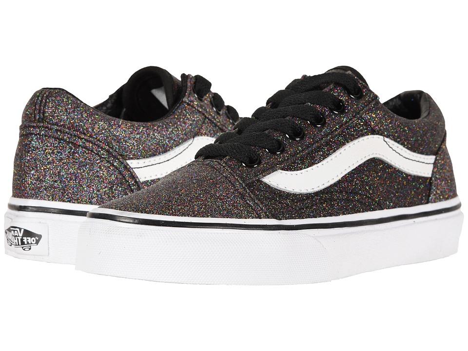 Vans Kids Old Skool (Little Kid/Big Kid) ((Glitter) Rainbow Black) Girls Shoes