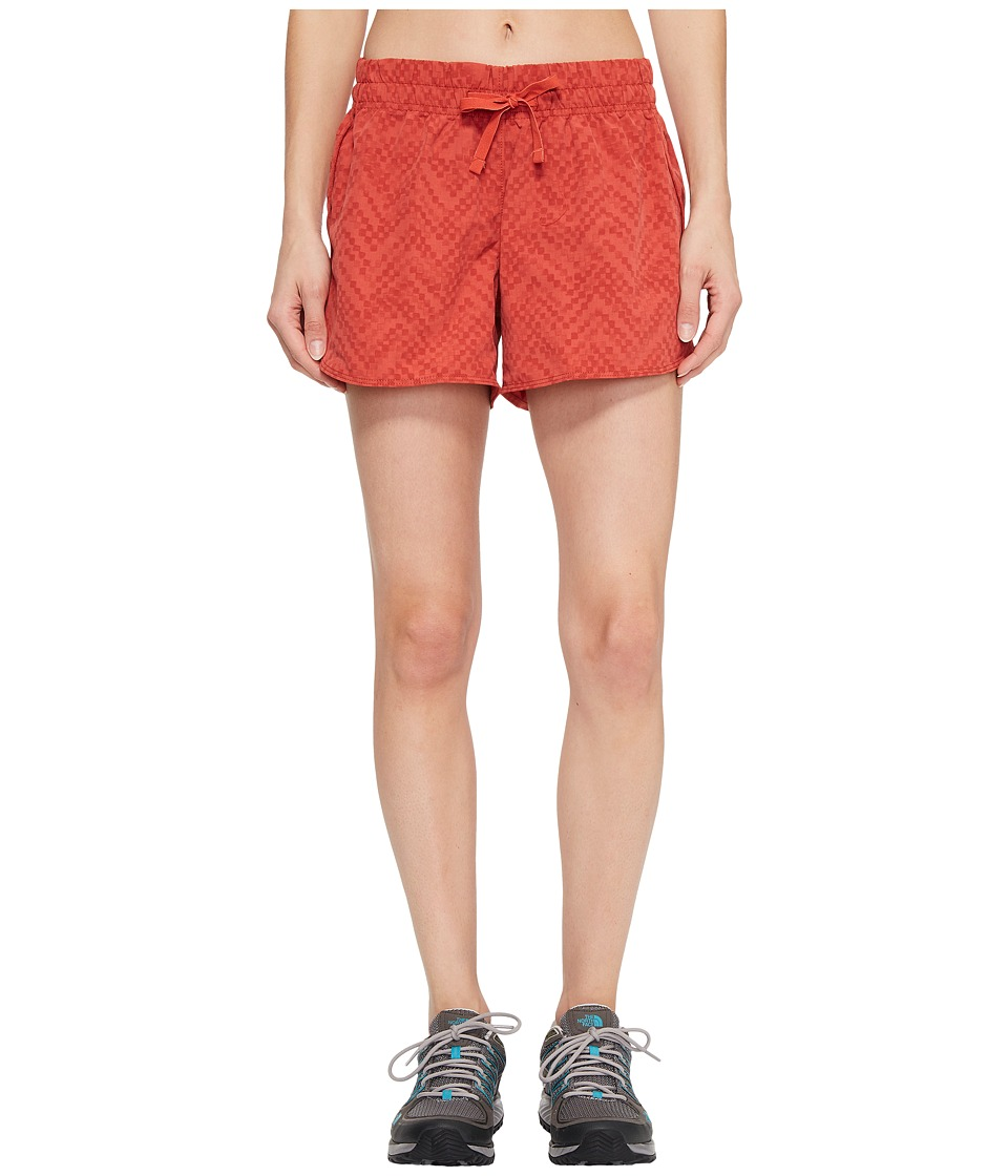 The North Face - Class V Shorts (Sunbaked Red Chevron Print) Womens Shorts